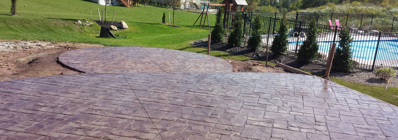 Rochester Ny Stamped Concrete Contractor Decorative